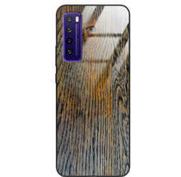 Etui drewniane Huawei Nova 7 Old Fashion Wood Rust Forestzone Glass