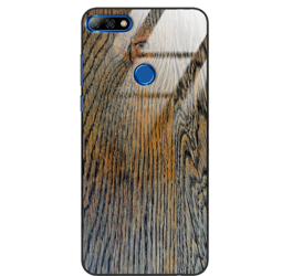 Etui drewniane Huawei Y7 Prime 2018 Old Fashion Wood Rust Forestzone Glass