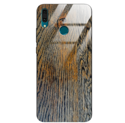 Etui drewniane Huawei Y9 2019 Old Fashion Wood Rust Forestzone Glass