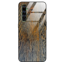 Etui drewniane Realme X50 Pro Old Fashion Wood Rust Forestzone Glass